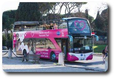 autobus turistico en Roma