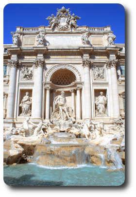 Fuente Trevi en Roma Barroca y Renacentista