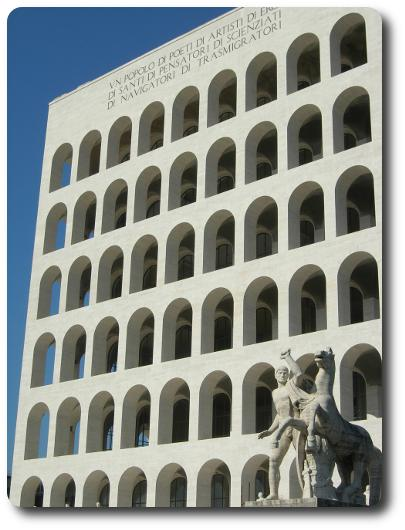 Barrios de Roma - Eur - Coliseo Cuadrado