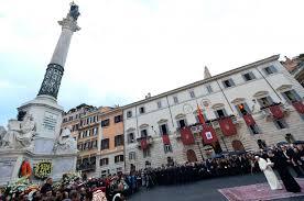 columna inmaculada en Plaza de España