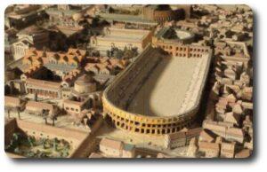 Plaza Navona en la historia estadio Domiciano