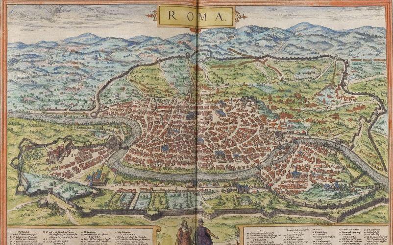 mapa roma baum 1570