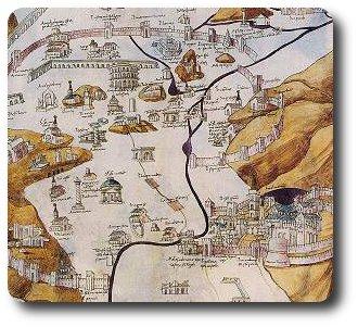 mapa roma medieval