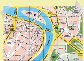mapa de Roma Trastevere y Aventino