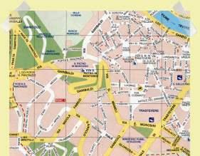 mapa Roma Trastevere Gianicolo