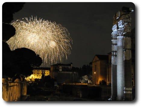 fiesta navidad y nochevieja en roma