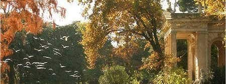 Lago de Villa borghese en otoño