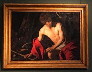 San Juan Bautista cuadro del Caravaggio en Palacio Corsini