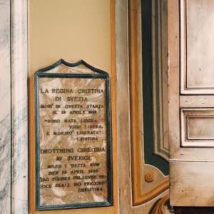 Palacio Corsini Lapida Reina Cristina de Suecia