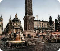 Plaza del Popolo en Roma
