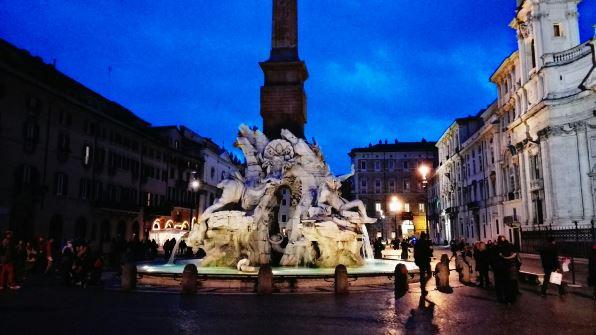 Plaza Navona de noche