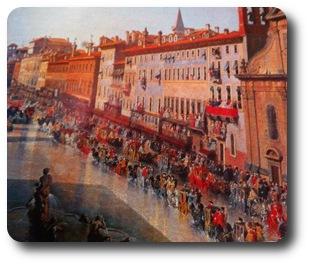tour plazas de Roma Navona en la historia