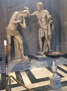 Bautismo de Jesús de Mochi Roma Barroca