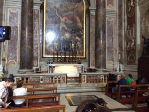 tumba de Juan Pablo II en la basílica de San Pedro