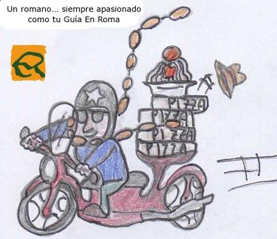 vespa-roma-dibujo