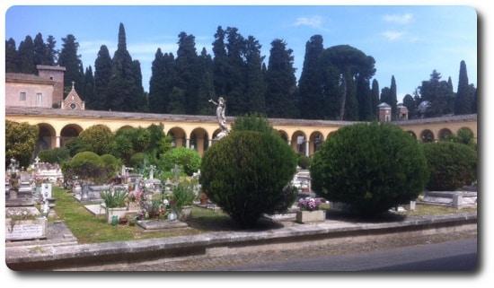 visita guiada del cementerio del verano roma quadriportico
