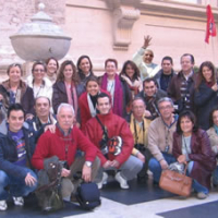 grupo en visita en San Pedro