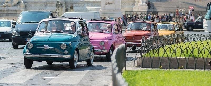 visitar roma en fiat 500