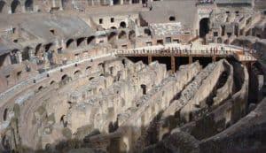 vista interior del Coliseo durante la visita