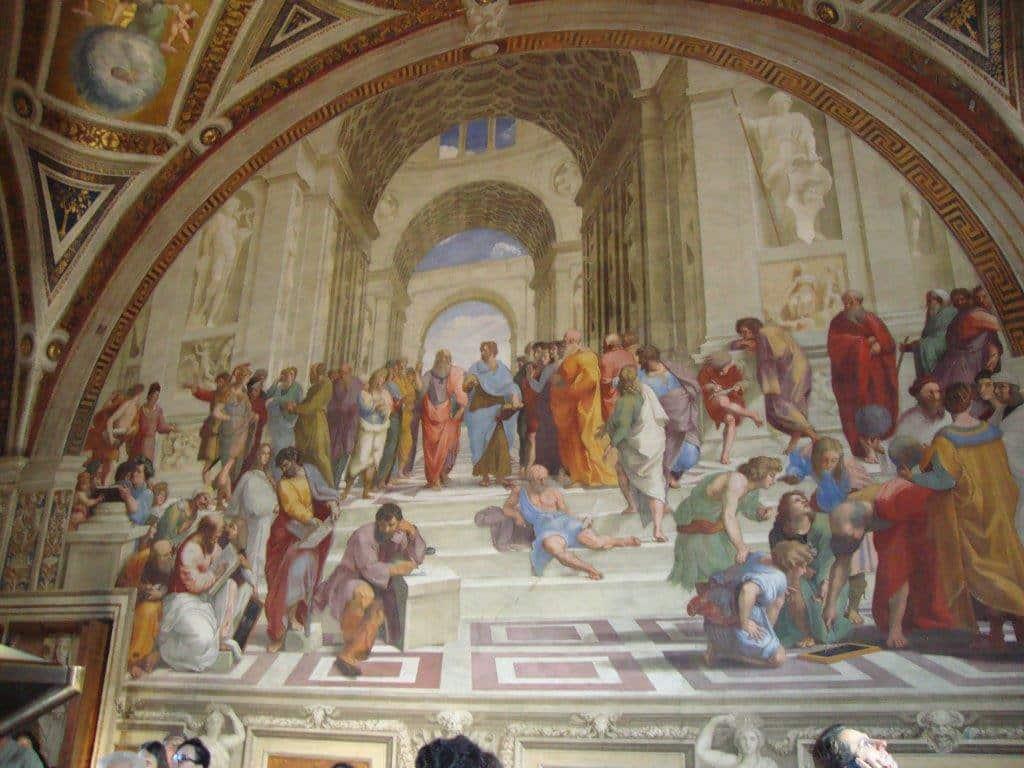 frescos Rafael Academia Vaticano