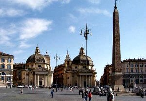 iglesias gemelas plaza popolo Roma