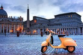 Roma en Vespa