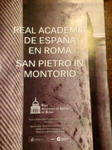 visita roma en español en la Academia de España