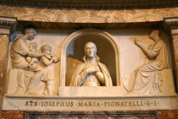 Jose Pignatelli busto en la Iglesia del Gesù