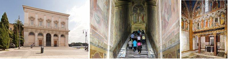 escalera santa al lado de San Juan de Letrán