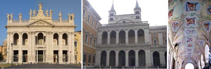 fachadas de la Basílica de San Juan de Letrán