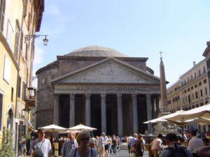 Panteon de Roma y plaza de la Rotonda