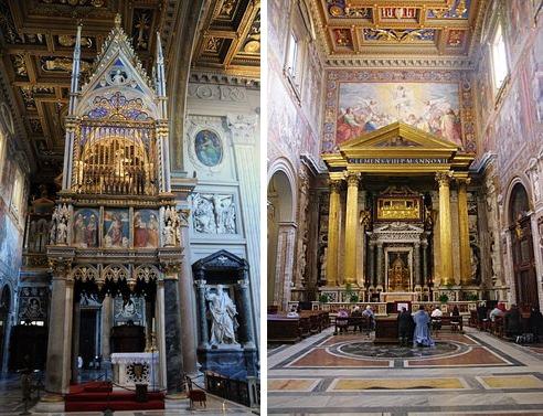altares en la basílica de San Juan de Letrán