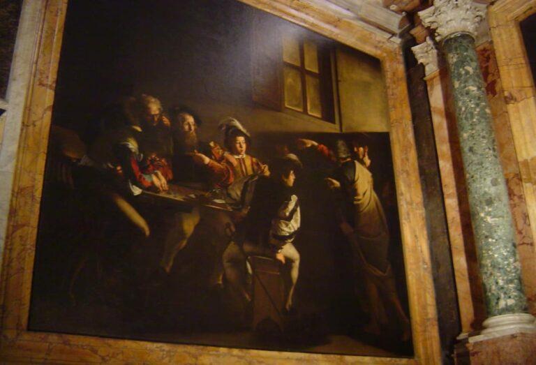 Caravaggio en Roma vocacion san Mateo S. Luis de los Franceses