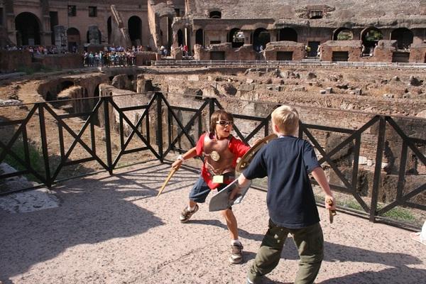 Como visitar roma con ninos