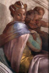 Raquel en los frescos de la Capilla Sixtina