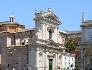 Fachada Santa Maria della Vittoria Roma