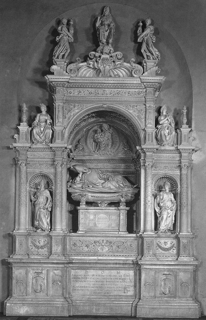 tumba de Ascanio Sforza del Sansovino en Sta. Maria del Popolo