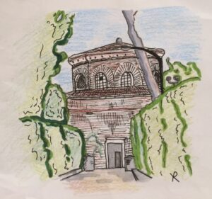 Dibujo del Mausoleo de Costanza Roma