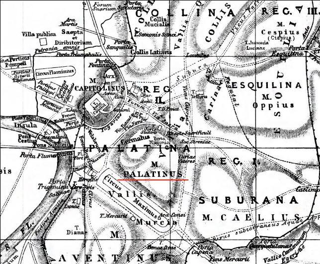 palatino y siete colinas mapa latin