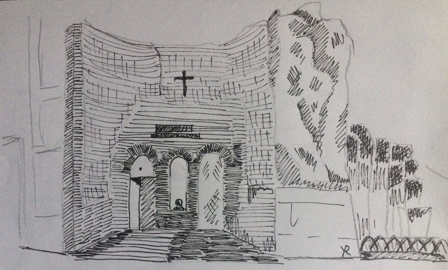 Santa Maria de los Angeles Fachada