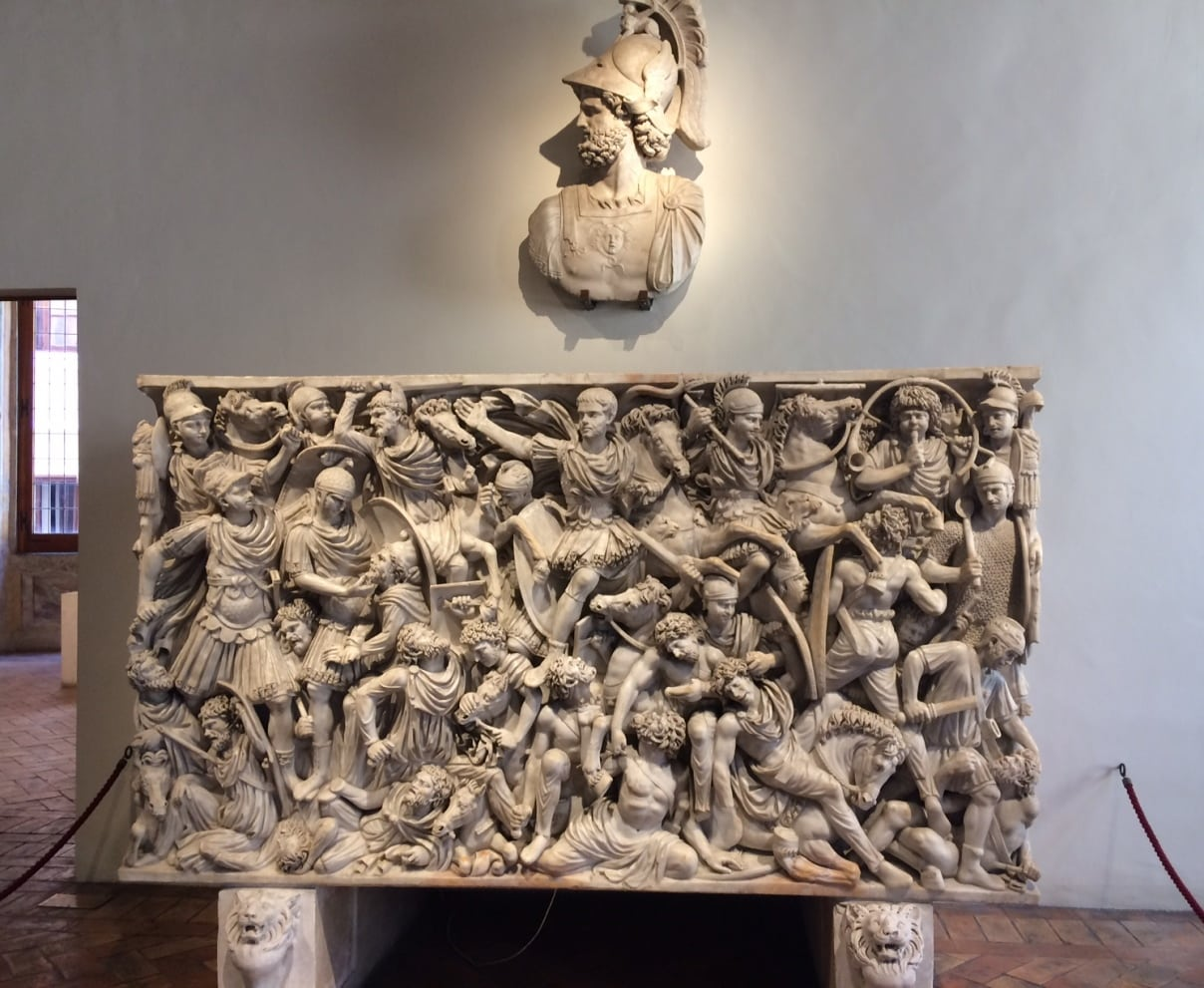 Sarcófago de época imperial en Palacio Altemps Roma