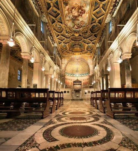 basilica de san clemente vista nave central
