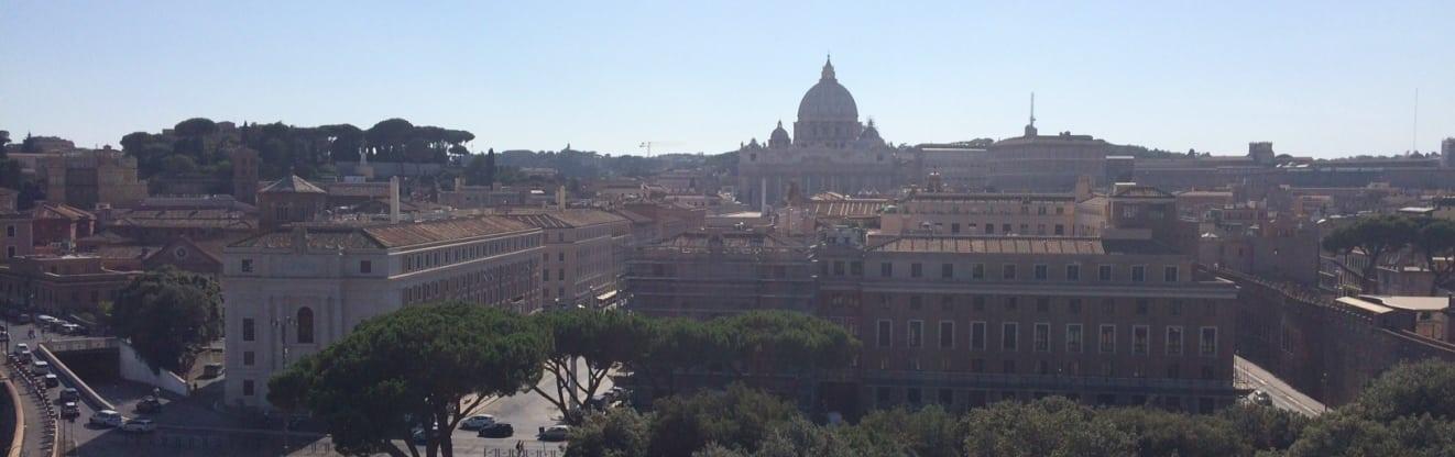 Vistas de Roma desde Castillo Sant Angelo