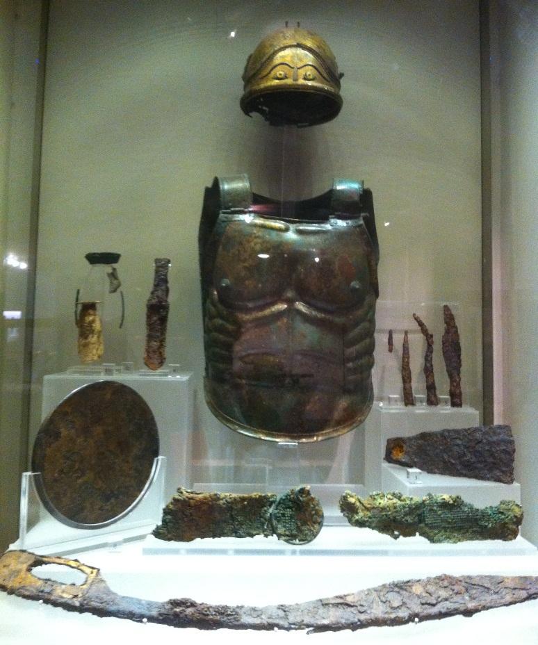 armadura soldado romano Museo Termas Diocleciano Roma