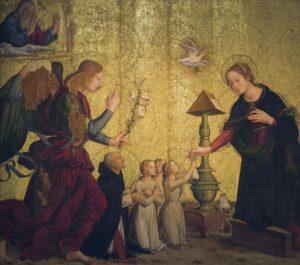Anunciación de Antoniazzo Romano en Santa Maria Sopra Minerva