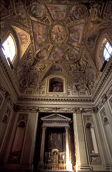 Madonna della Clemenza en Santa Maria en Trastevere capilla Altemps