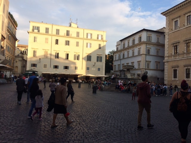 Plaza Santa María en Trastevere