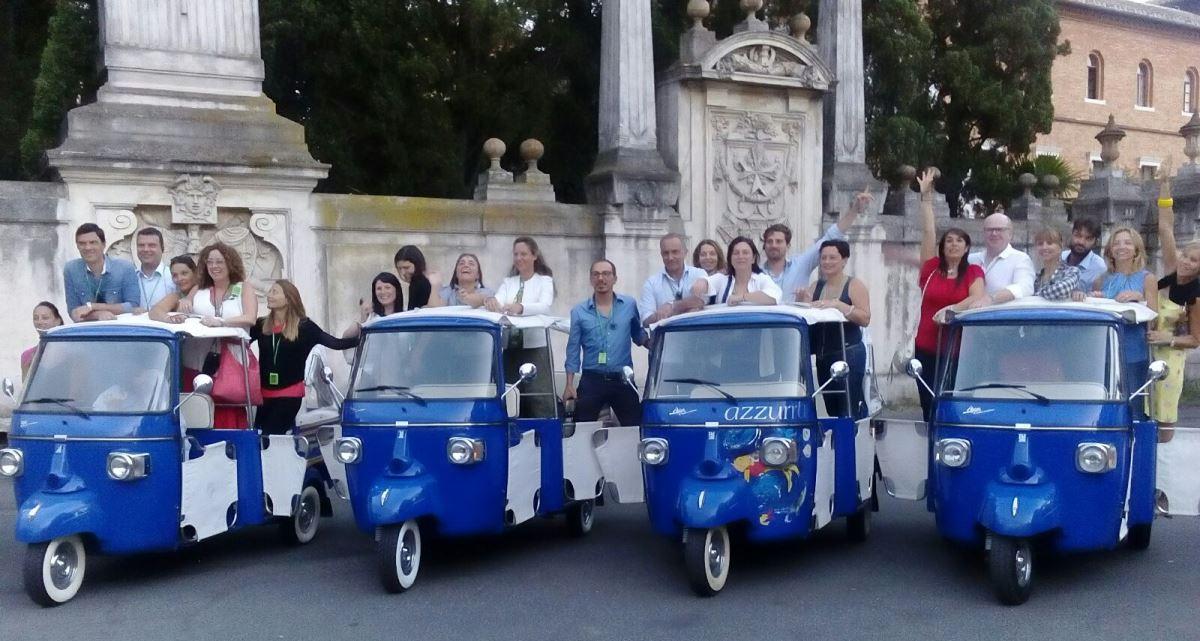 tour en moto ape calesa por Roma