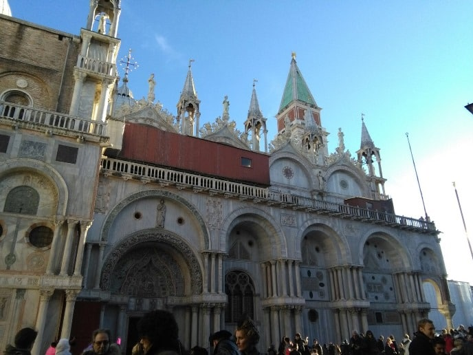 Basilica de San Marco en Venecia durante el tour