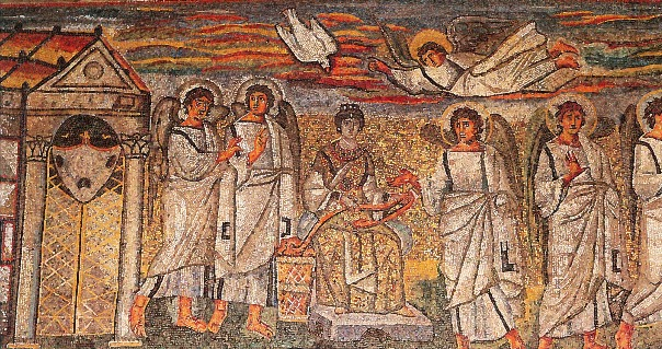 Mosaico de la Anunciación en Santa Maria Mayor